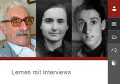 "German-language online application ""Lernen mit Interviews"""