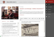 """Lernen mit Interviews"": Video, transcript, tasks, editor"