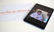 """Lernen mit Interviews"" on tablet or smartphone"