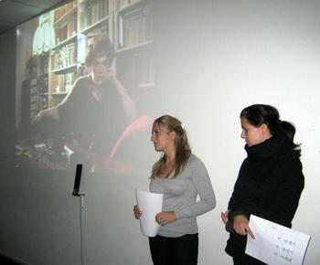 Students' presentation about the biography of Helena Bohle-Szacki